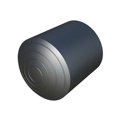 External rubber ferrule for round tube